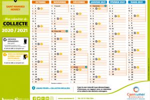 Calendrier de collecte des déchets 2020/2021