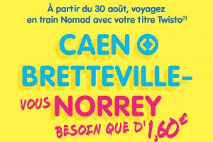 À partir du 30 août, voyagez en train Nomad avec votre titre Twisto